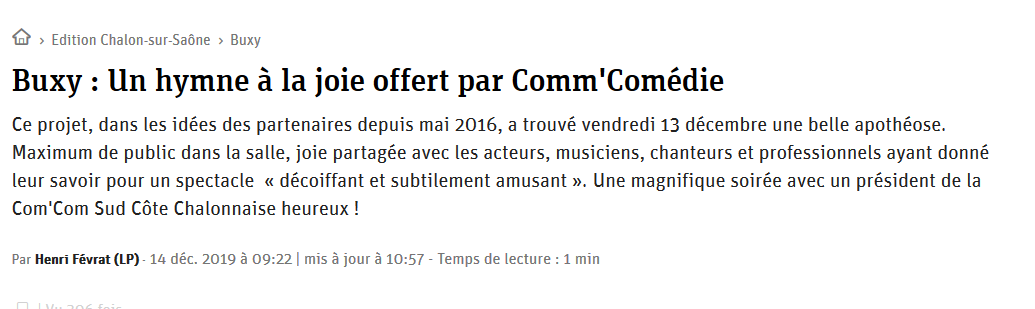 Article jsl comm comedie
